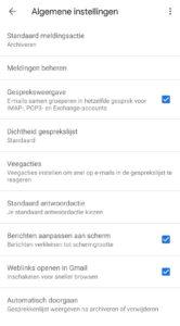 gmail weergave