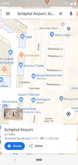 google maps schiphol