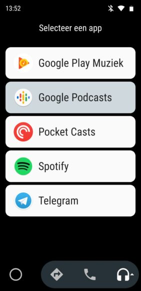 google podcasts android auto