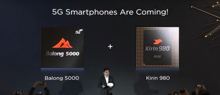 Opvouwbare 5G-smartphone Huawei