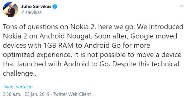 Nokia 2 Android Pie-update