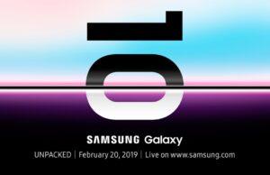 samsung galaxy s10 presentatie