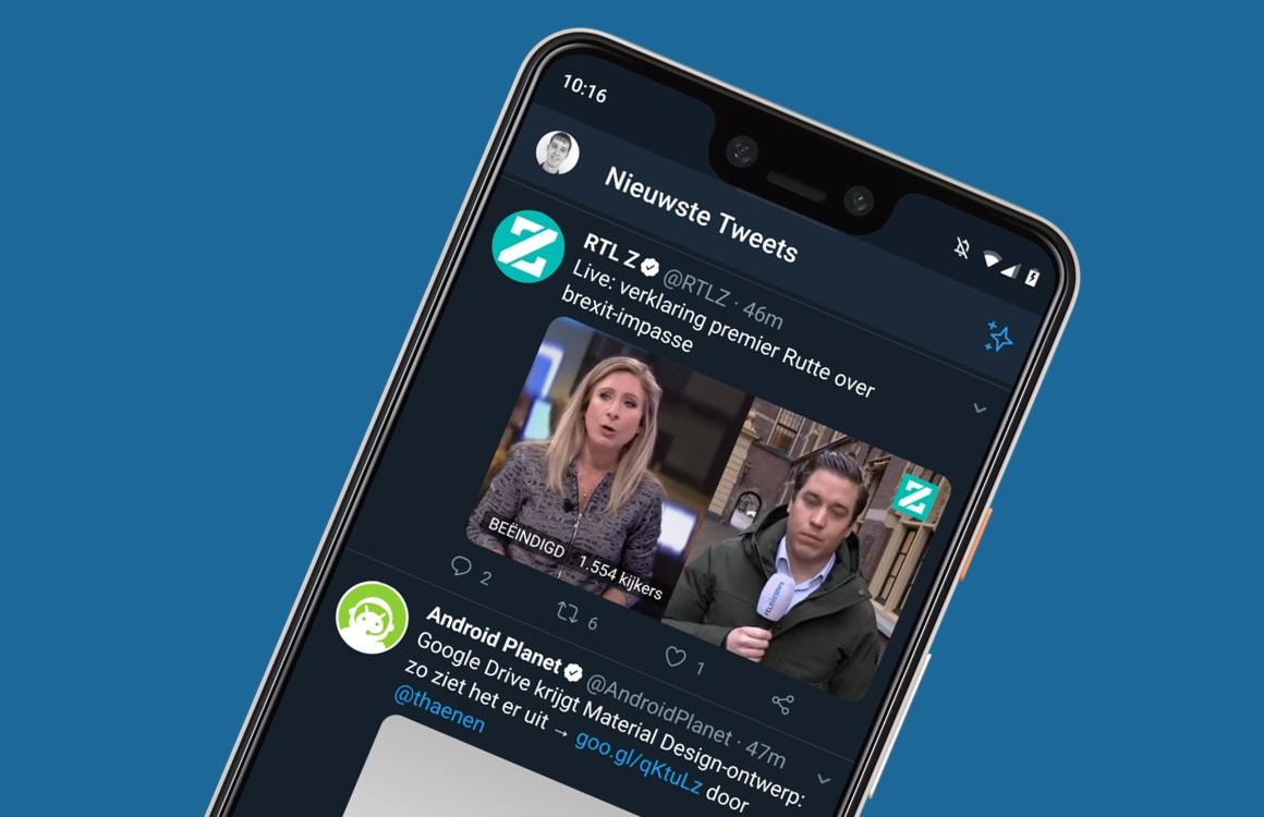 Eindelijk: Twitter-app voor Android heeft weer chronologische tijdlijn