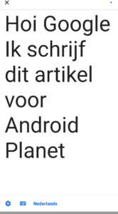 Google Live Transcriberen screenshot (1)