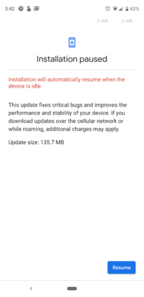 Google Pixel Android-update screen (1)