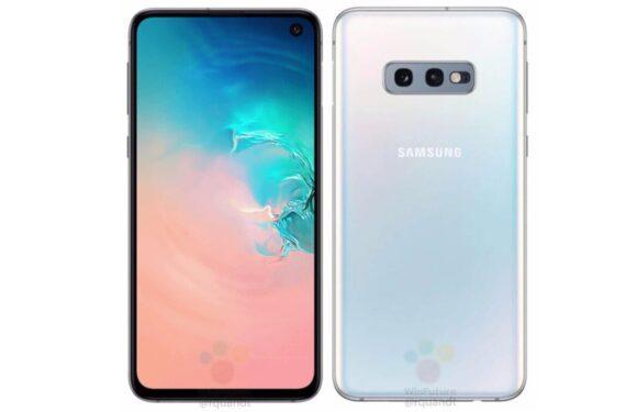 'Foto's tonen Samsung Galaxy S10e met opvallende vingerafdrukscanner'