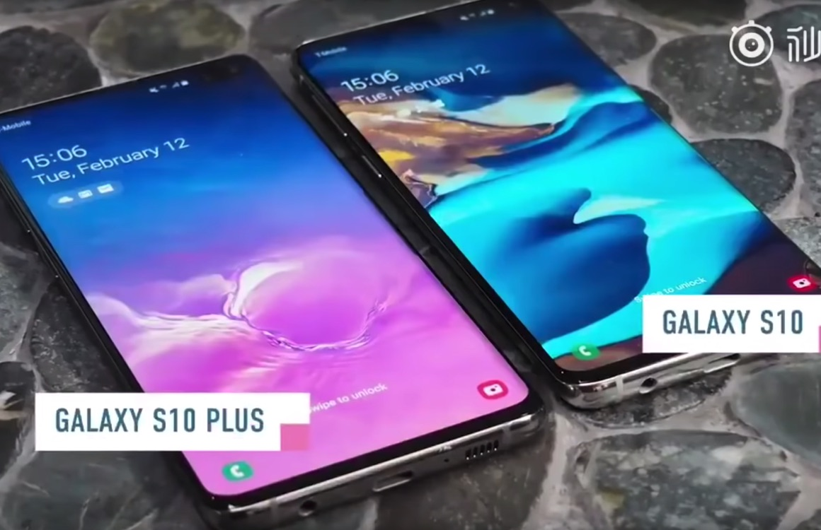 Samsung Galaxy S10 (Plus) duikt op in vroege hands-on video