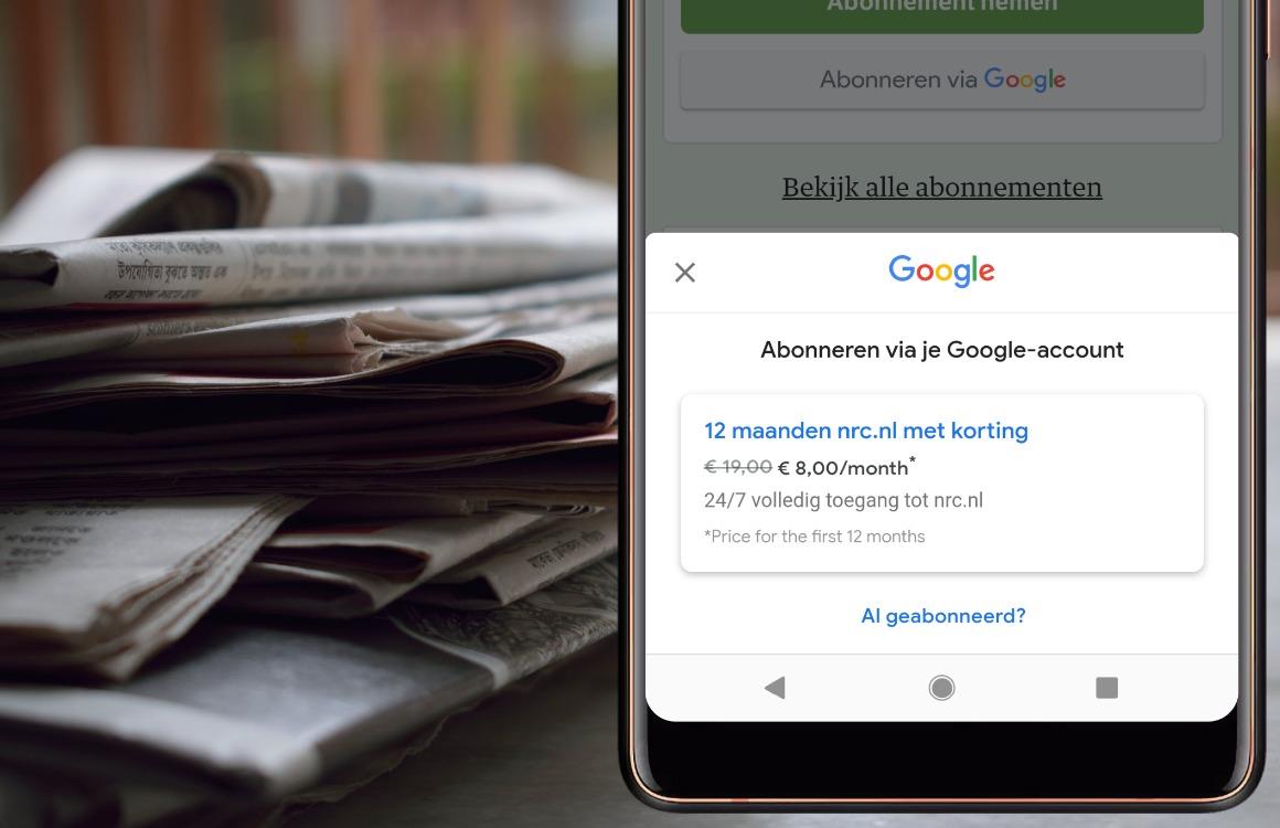 Zo sluit je via Google een abonnement af op kranten