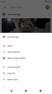 Google Drive Material Design-update