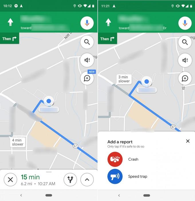 Google Maps flitspalen doorgeven