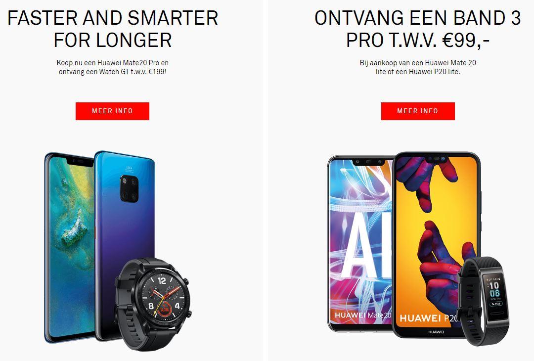 Gratis Huawei-wearable actie