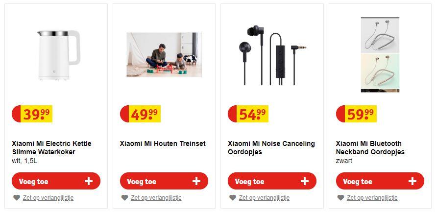 Kruidvat Xiaomi-verkoop