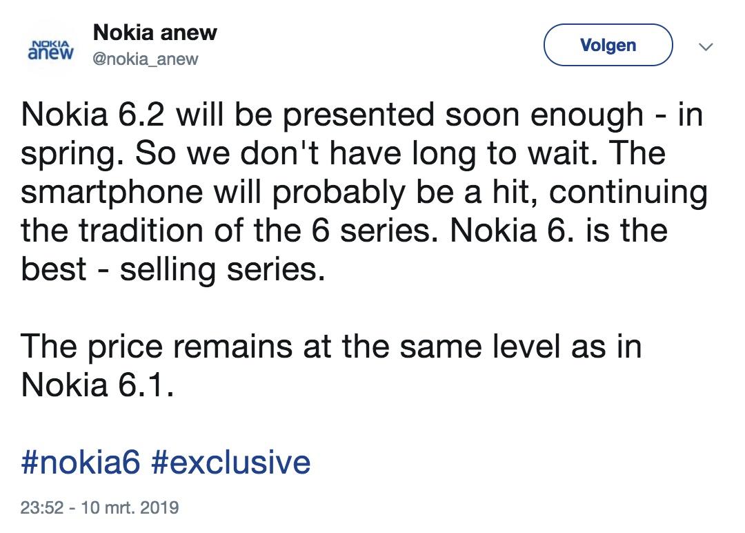 nokia 6.2 aankondiging