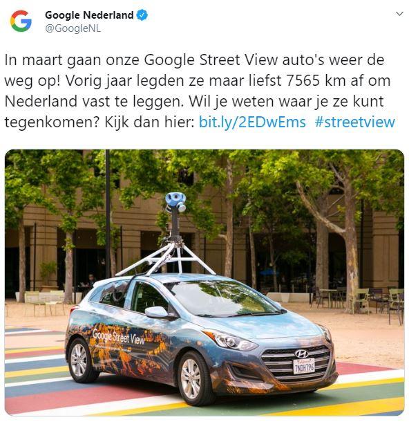 Nieuwe Google Street View-foto's