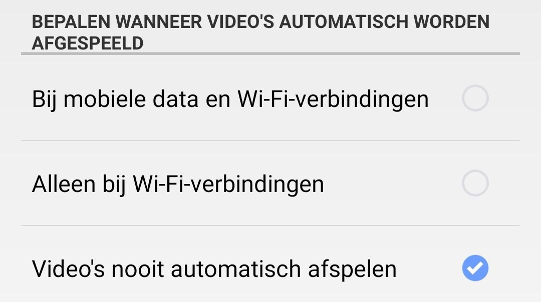 Automatisch afspeelbare video's