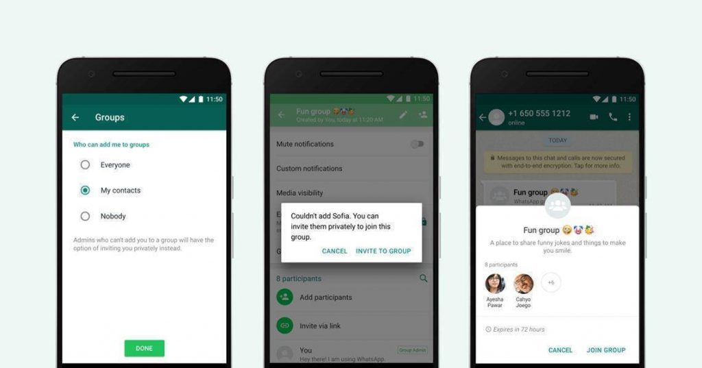 WhatsApp groepen beheren