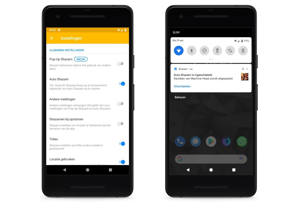 Auto Shazam voor Android