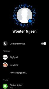 facebook messenger donkere modus