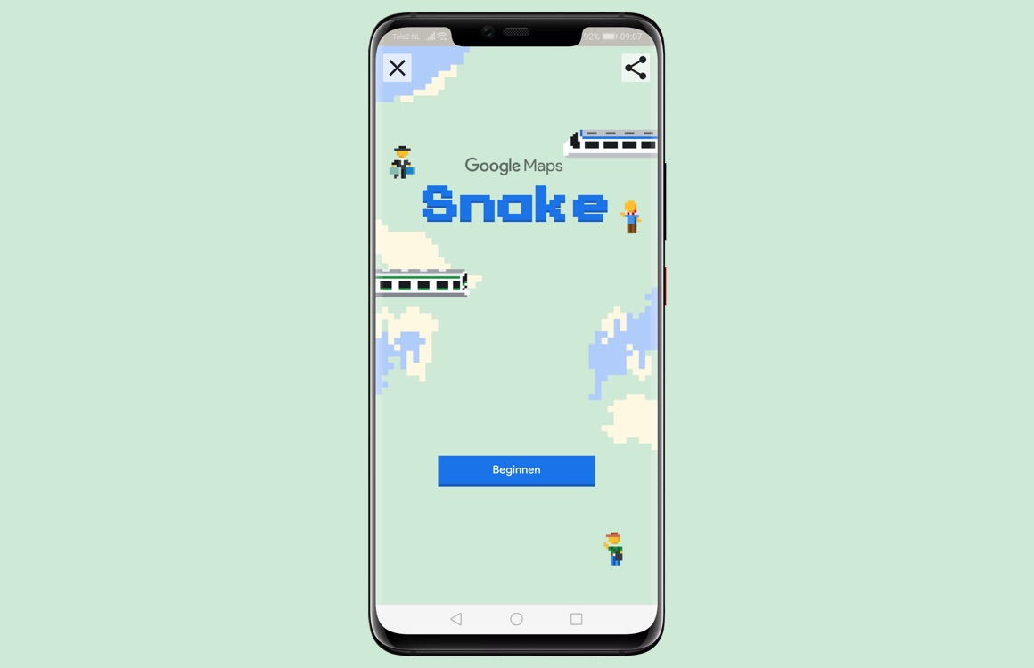 Zo speel je Snake in de Google Maps-app