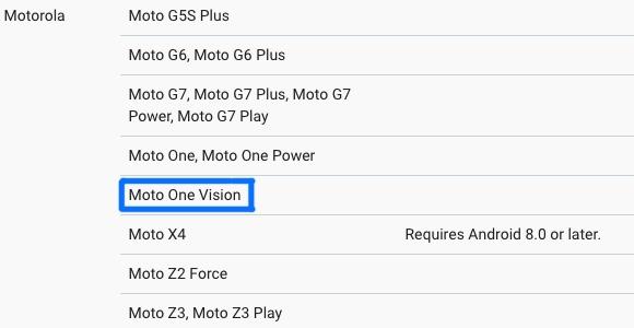 motorola one vision gelekt