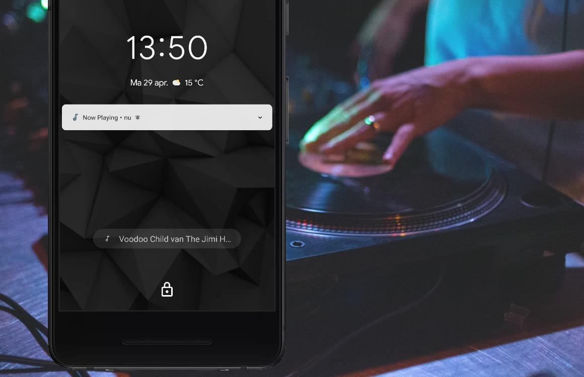 Tip: Now Playing toont automatisch welke muziek er speelt