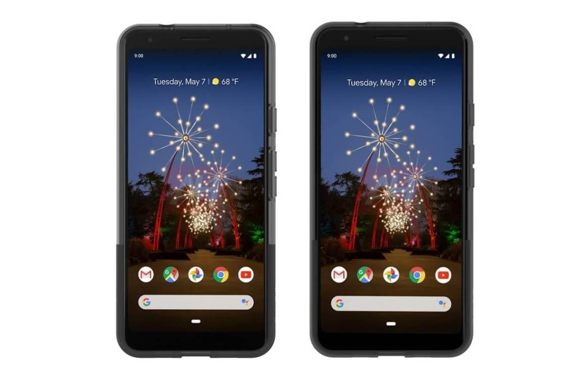 Foto's: 'Dit zijn de Google Pixel 3a en Pixel 3a XL, met flinke schermranden'
