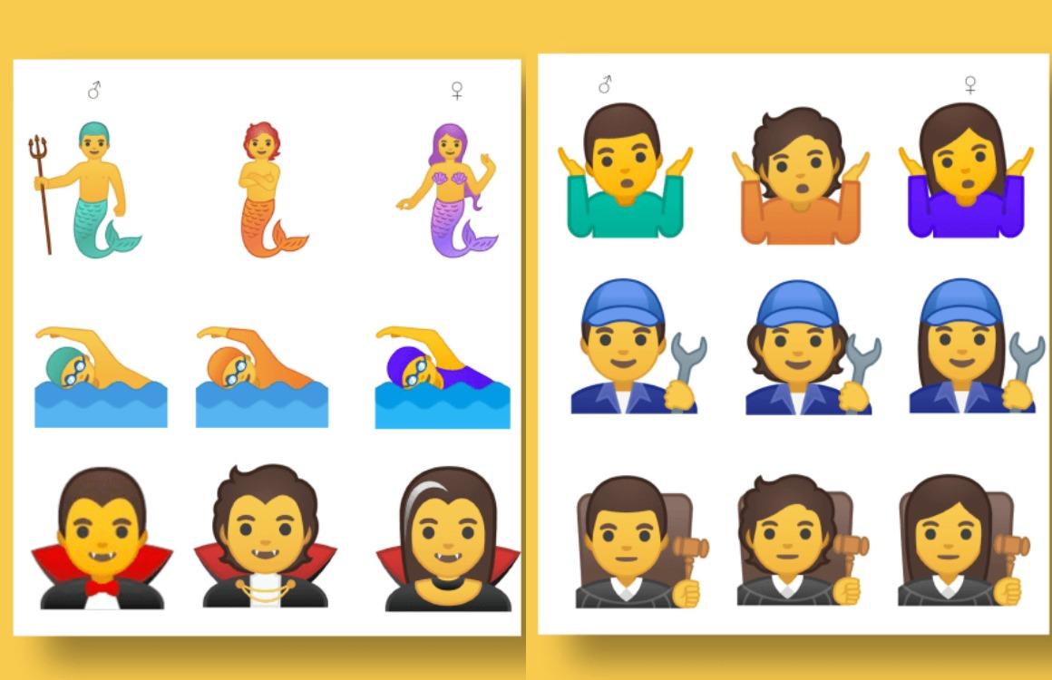 genderneutrale emoji Android Q
