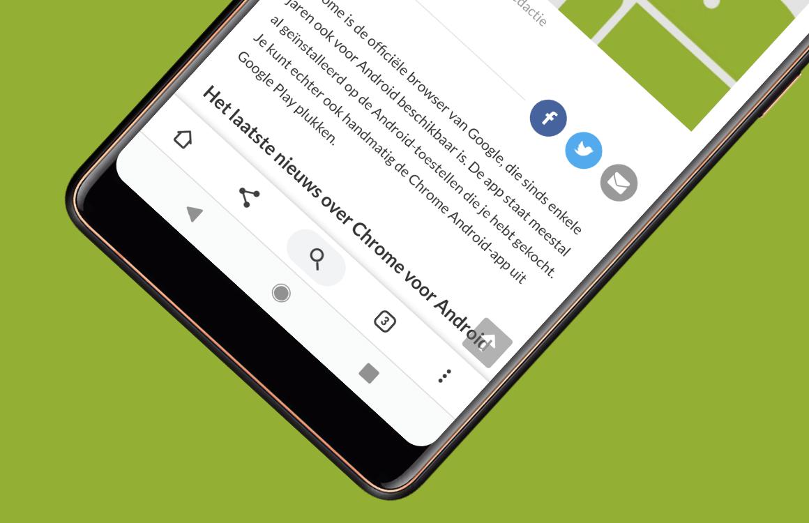 Google Chrome voor Android Tips navigatiebalk onderaan
