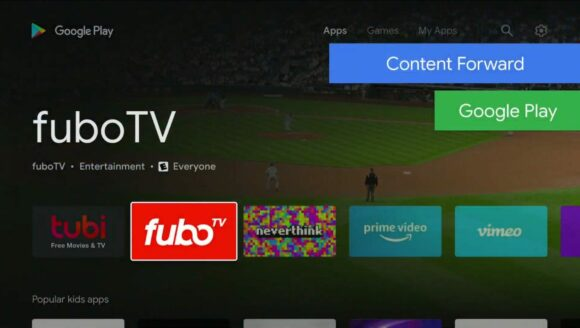 Android TV Play Store-update