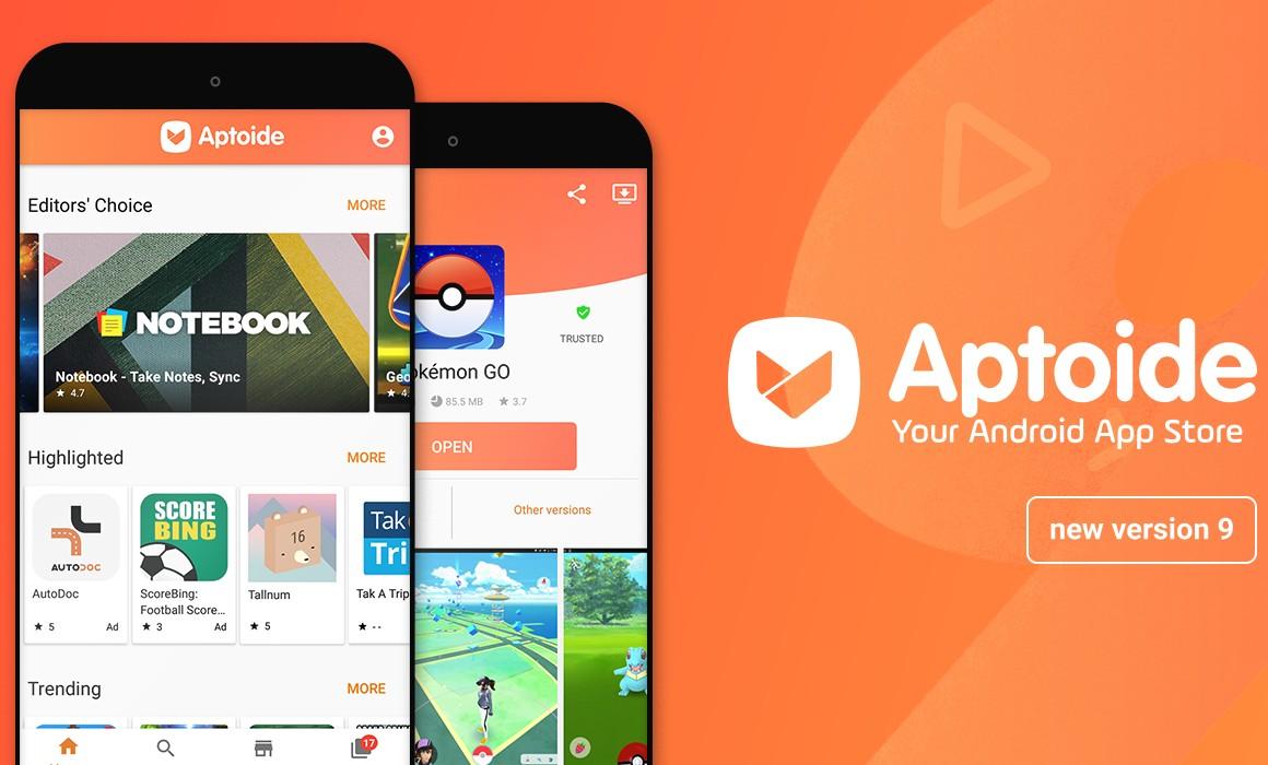 Huawei Google Play Store-alternatief aptoide