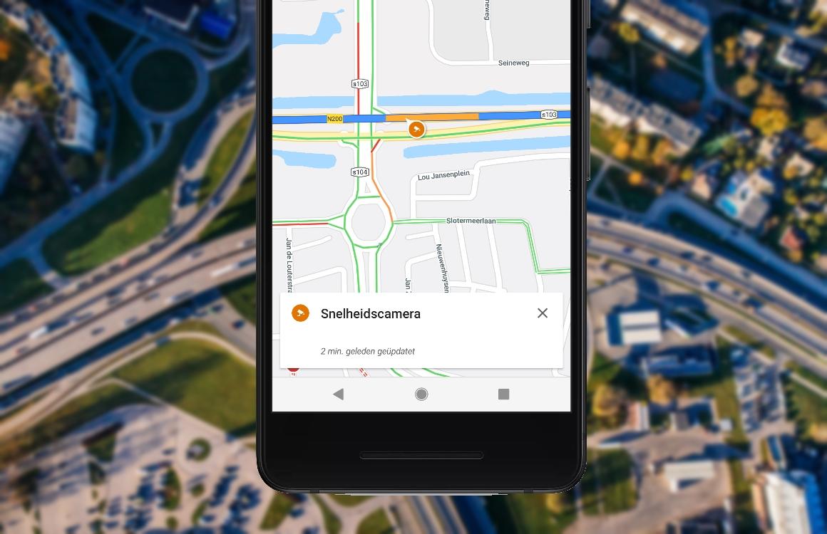 Google Maps-app toont vanaf nu flitspalen tijdens navigeren