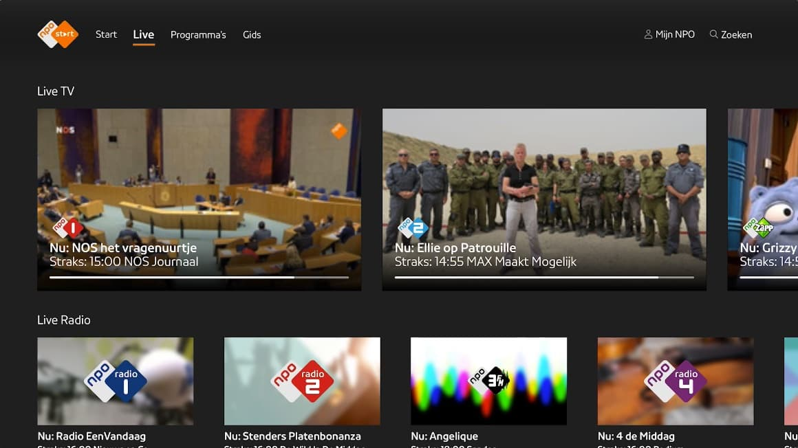 NPO Start Android TV-app