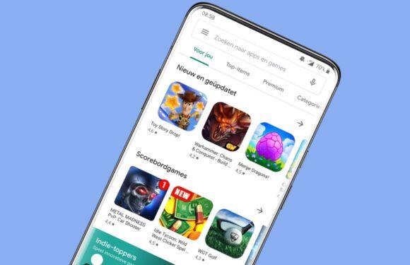 Updaten: dit is het nieuwe design van de Google Play Store