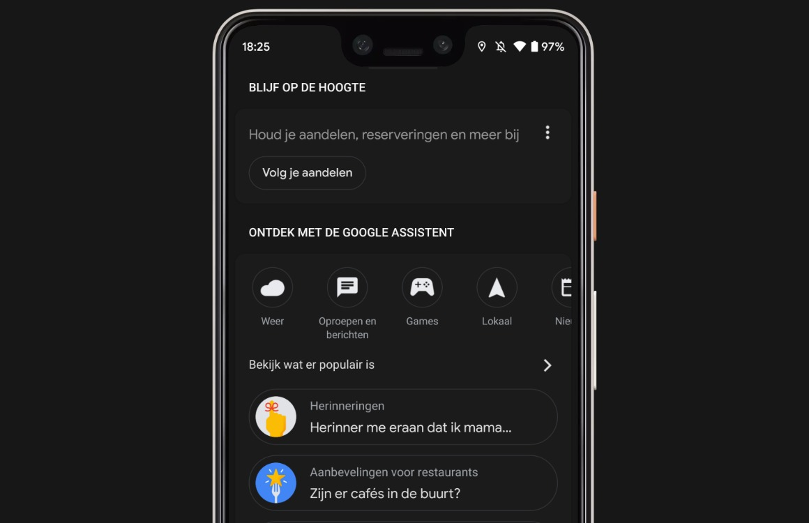 Google Assistent donkere modus 3