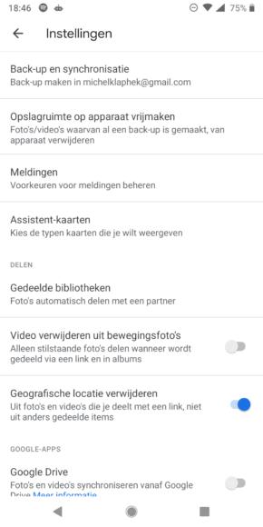 Google Foto's back-up maken (1)