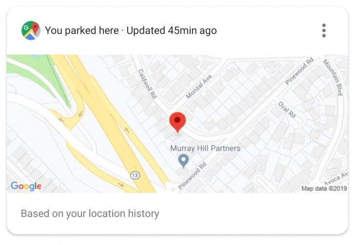 Google Assistent onthoudt parkeerplaats