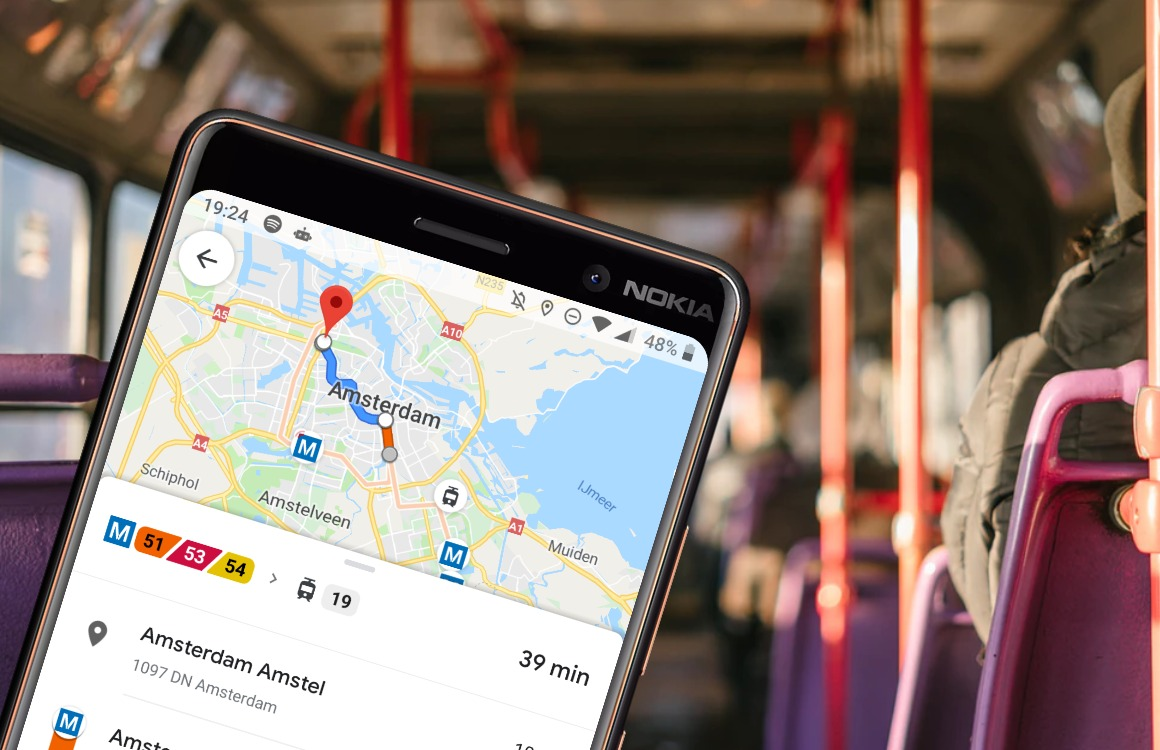Google Maps laat je voortaan weten hoe druk het openbaar vervoer is
