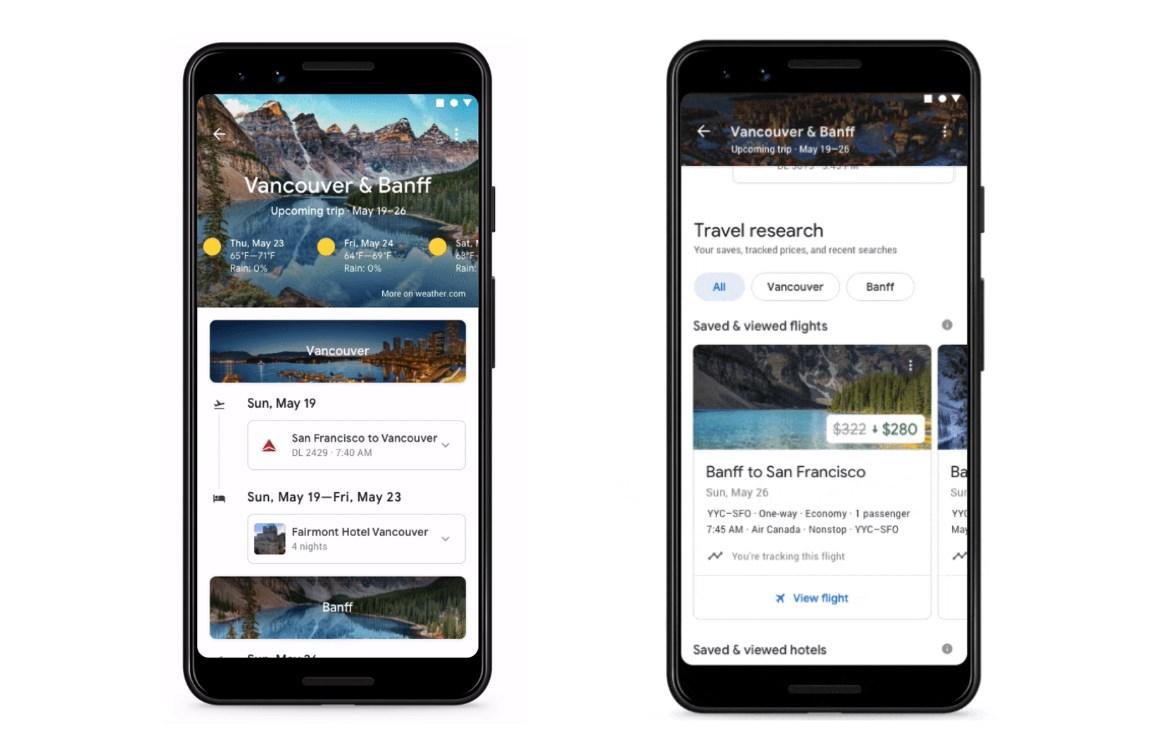 Google trips app stopt