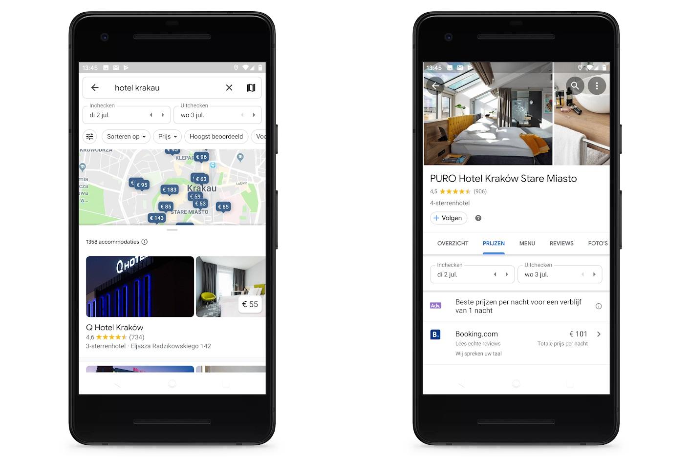 Google maps hotel app