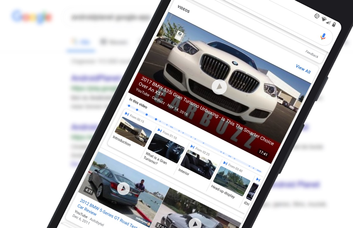 Google-app linkt direct naar interessante deel van video's in zoekresultaten