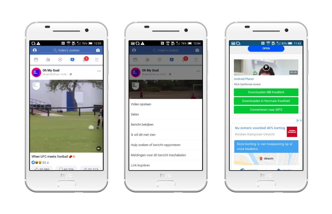 Facebook video downloaden screenshots