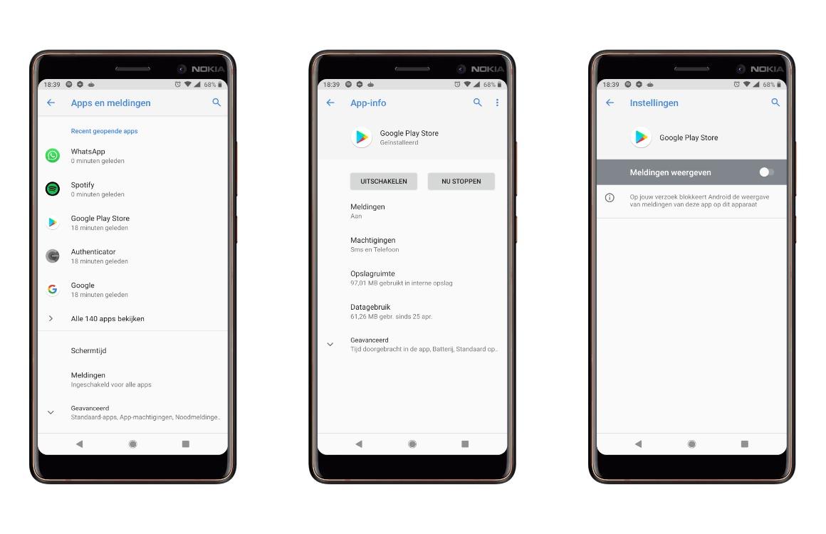 Google Play Store app-aanbevelingen uitzetten