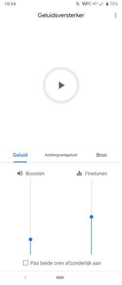 geluidsversterker-app