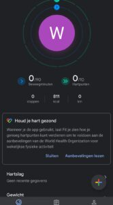 google fit donkere modus