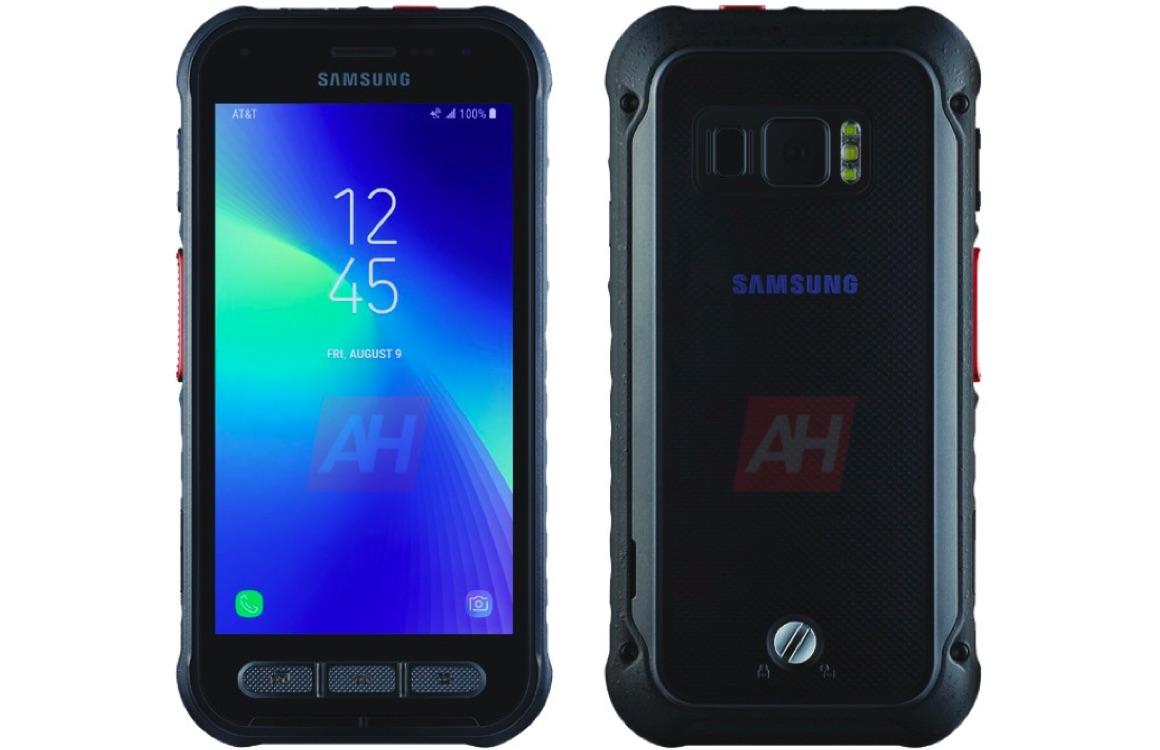 'Render toont Samsung Galaxy Active met stevige behuizing'