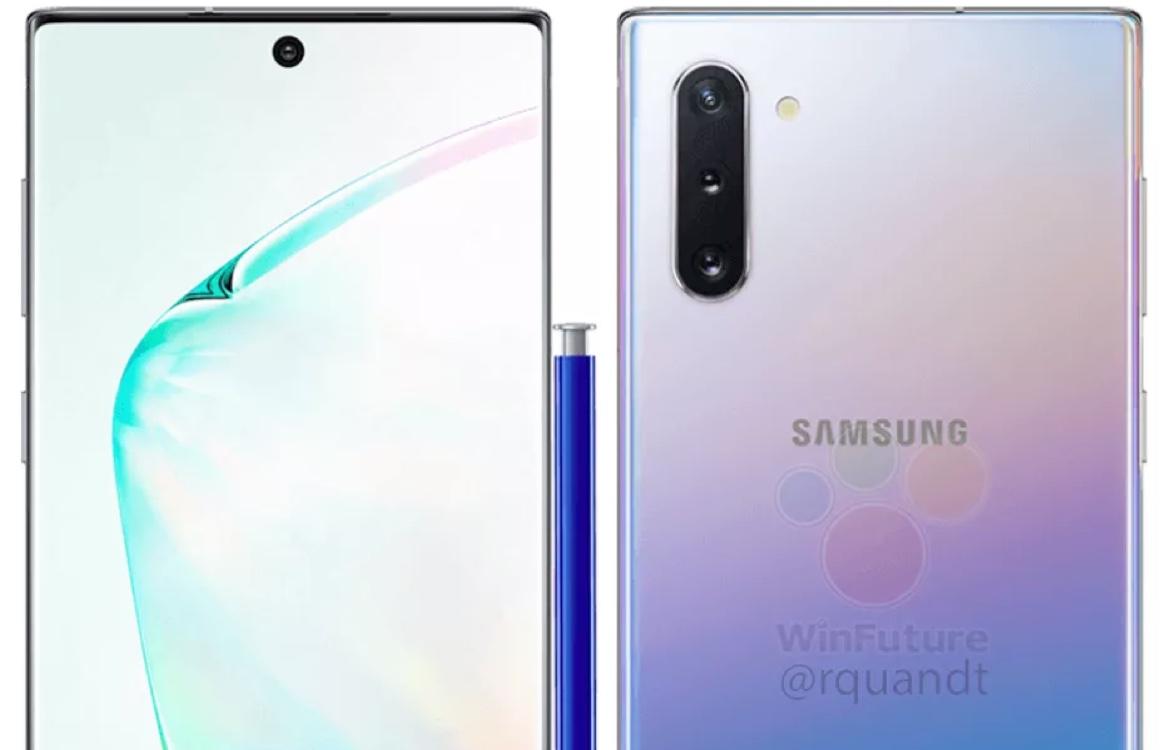 'Renders tonen Samsung Galaxy Note 10 met cameragat in het midden'