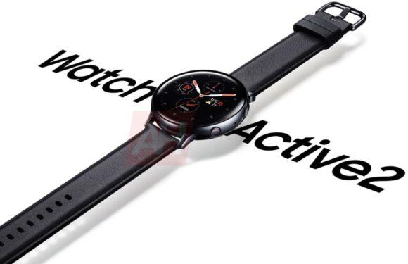 Galaxy Watch Active 2 opnieuw gelekt, ditmaal op officiële renders