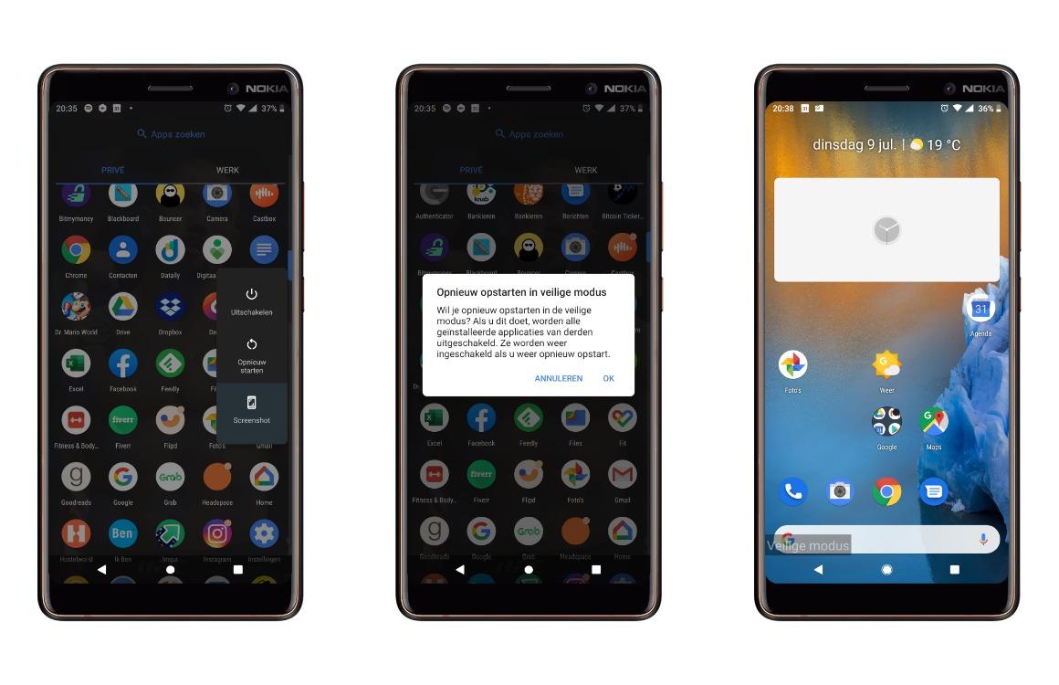 veilige modus android inschakelen