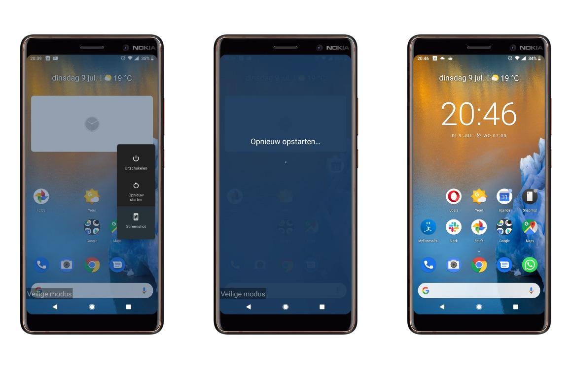 veilige modus android uitschakelen
