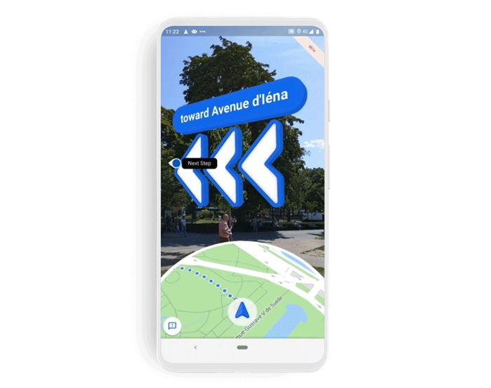 google maps live view